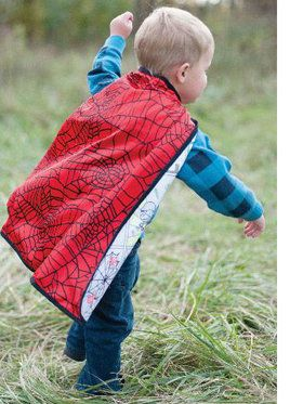 Reversible Color-A-Spider-Superhero Cape Boy's Costume