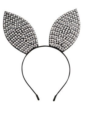 Rhinestone & Pearl Bunny Ears Headband for Women