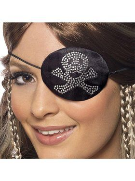 Rhinestone Pirate Eye Patch
