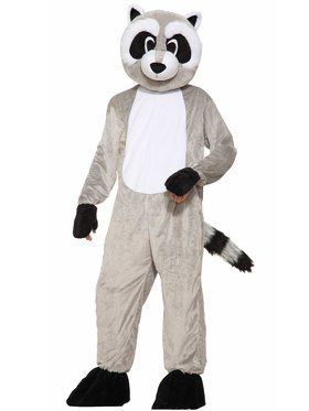 Rickey Raccoon Mascot Adult Mascot Costume