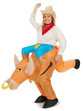 Ride a Bull Inflatable Adult Costume