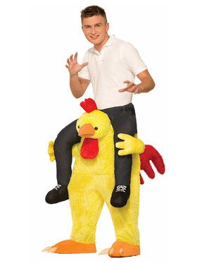 Ride a Chicken Costume For Adults