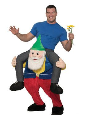 Adult Ride a Gnome Costume For Adults