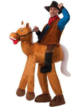 Ride a Horse Pull-On Pants Costume For Adults