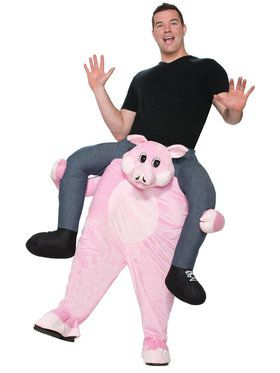 Ride a Pig Costume For Adults