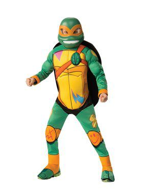 Rise Of The Teenage Mutant Ninja Turtles Deluxe Michelangelo Costume for Boys