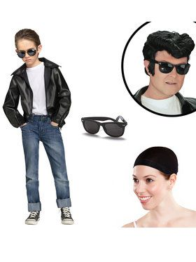 Rock N' Roll Boys Greaser Costume Kit for Halloween