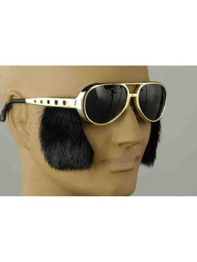 Rock N Roll Glasses With Sideburns Accessory