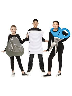 Rock Paper Scissors Group Set Boy's Costume