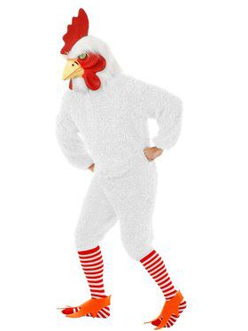 Plus Adult's Rocking Rooster Funky Chicken Too Costume