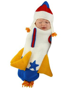 Roger the Rocket Ship Infant Bunting Costume 0-3 Months