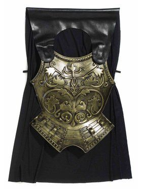 Mens Roman Soldier Chest Armor and Cape