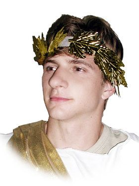 Roman Wreath Headband Gold