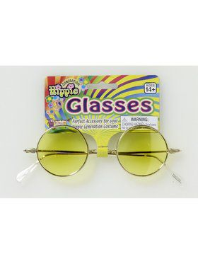 Round Glasses with Yellow Lenses for Adults