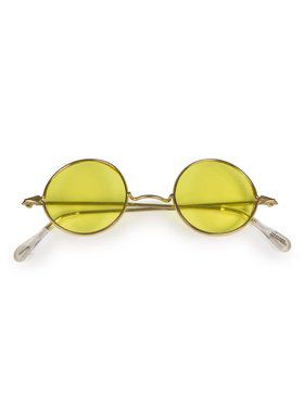 Round Glasses Yellow Lenses