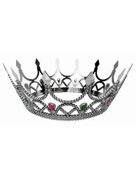 Royal Queen Crown Silver Accessory
