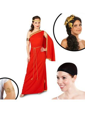 Royal Ruby Toga Adult Costume Kit
