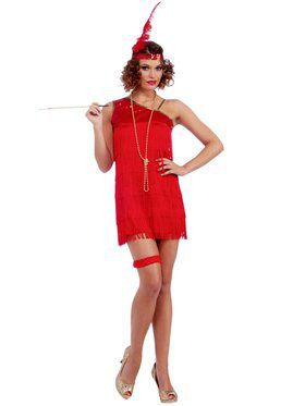 Ruby Red Dazzle Flapper Sexy Costume