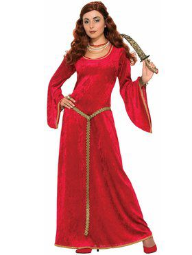 Ruby Sorceress Renaissance Adult Costume