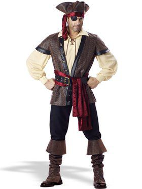 Rustic Pirate Elite Adult Costume
