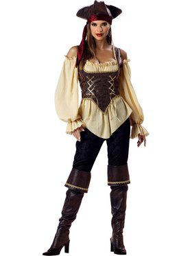 Rustic Pirate Lady Elite Adult Costume