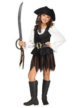 Rustic Pirate Maiden Costume For Children