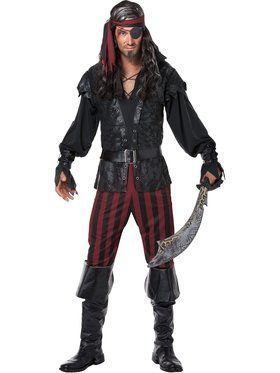 Ruthless Rogue Pirate Men's Costume
