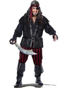 Ruthless Rogue Pirate Mens Plus Size Costume