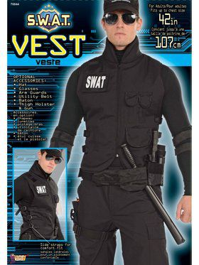 S.W.A.T. Vest - Standard Adult Costume