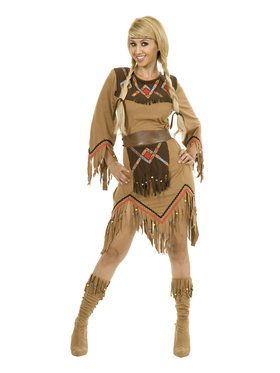 Women's Sacajawea Adult Indian Maiden Costume