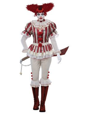 Sadistic Clown Womens Costume for Halloween