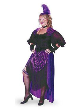 Saloon Girl Plus Size Costume for Adults  sc 1 st  Wholesale Halloween Costumes & Womenu0027s Curvy Costumes   Wholesale Halloween Costumes