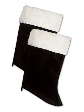 Adult Santa Boot Tops with Fur Accent
