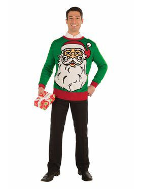 Santa Christmas Sweater Costume Top