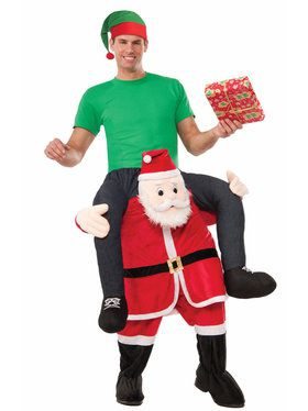 Santa On My Back Mens Costume