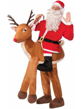 Santa Ride-A-Reindeer Men's Costume