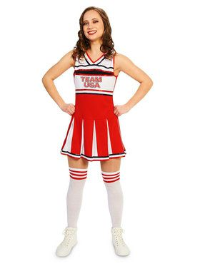 Adult Sassy Team Cheer Costume For Adults