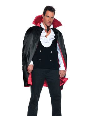 "Satin 38"" Deluxe Reversible Cape Men's Costume"