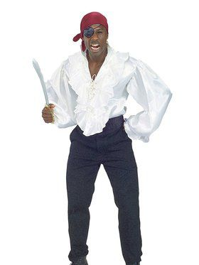 Satin Pirate Shirt Adult Costume