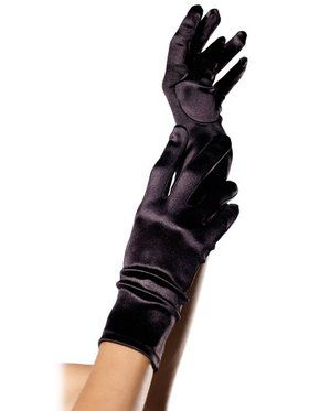 Satin Wrist Length Gloves Adult