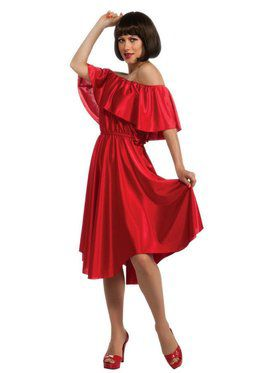 Saturday Night Fever Red Dress Costume for Adult