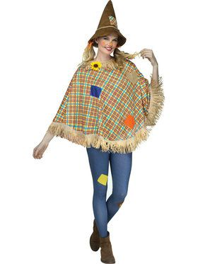 Adult Scarecrow Poncho For Adults