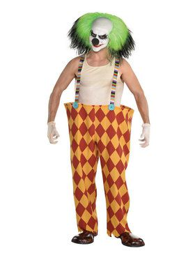 Scary Clown Suspender Hoop Pants Costume