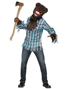 Crazed Teddy Bear Adult Costume