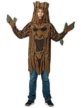 Scary Tree Tunic Costume For Adults