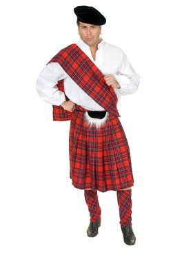 Adult's Scottish Kilt Costume