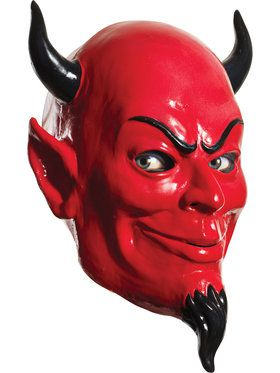 Scream Queens Deluxe Overhead Latex Devil Mask