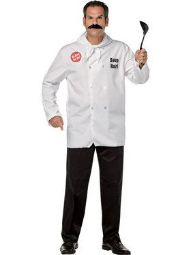Seinfeld Soup Nazi Shirt and Moustache Men's Costume