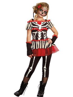 Seniorita Bone-Ita Girl's Costume