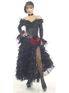 Senorita Black Adult Costume